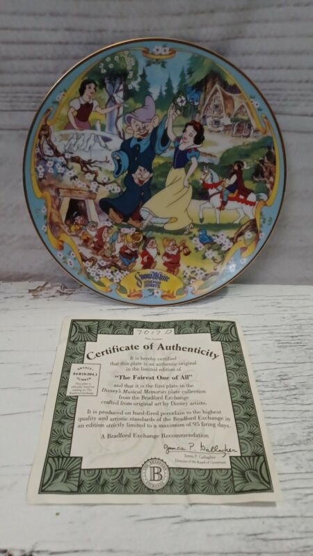 Snow White Bradford Exchange Musical collector plate. The Fairest of Them All