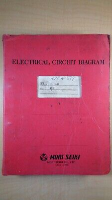 Mori Seiki Zl 1545 Mf-d6 Electrical Circuit Diagram Manual 6c B5