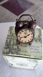 Boyds~Hinged~TREASURE BOX~#392176~BENNY'S ALARM CLOCK w/SNOOZE McNIBBLE ~1E~NEW