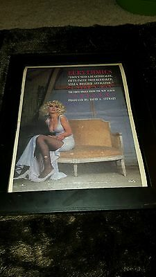 Eurythmics I Need A Man Rare Original Radio Promo Poster Ad Framed!