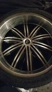 """24"""" Crave Alloy Rims and New Tires"""