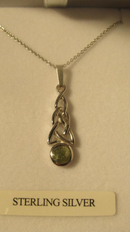 GENUINE Connemara Marble/Sterling Silver Celtic Pendant Guaranteed Irish