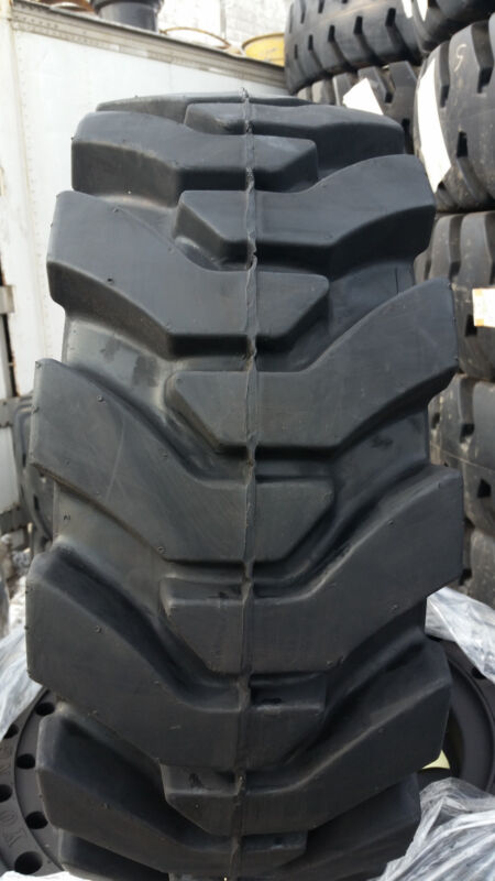 (4-tires With Wheels) Ty Solid 33x12-20 / 12-16.5 Skid-steer Loader Tire 331220