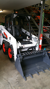 S100 Bobcat with fork attachment hire Padstow Bankstown Area Preview