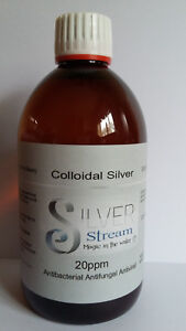 Colloidal Silver 20 ppm, (500ml Bottle) Premium Quality Colloidal Silver