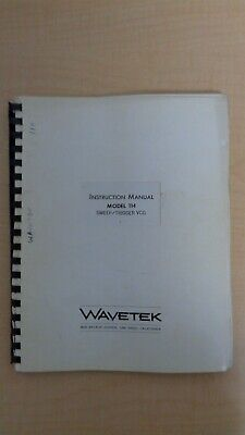 Wavetek Model 114 Sweep Trigger Vcg Instruction Manual 6f B6