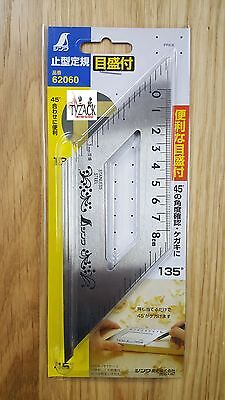 Shinwa 62060 Japanese Mitre Carpenters Square 45 & 135 Degrees with Measurements