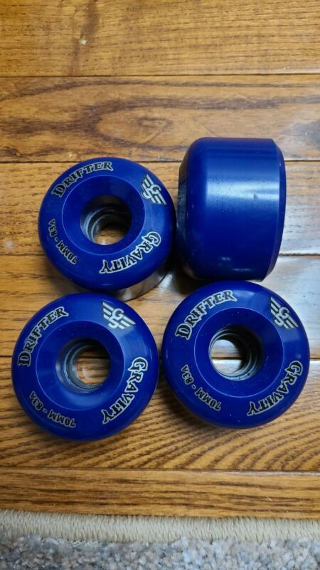 NOS Gravity Drifter Longboard Wheels - Blue 70mm 83a