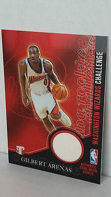 Wizards Arenas (2003-04 Topps Pristine Challenge Relics PC-GA GILBERT ARENAS (Warriors/Wizards))