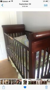 Wooden Baby Crib with mattress