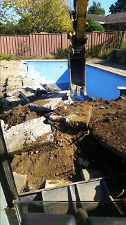 Excavation hire truck hire landscaping tight access excavation