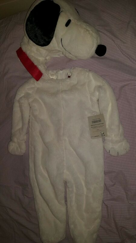 New Pottery Barn Kids 3t SNOOPY Halloween COSTUME Peanuts mail today