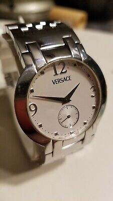 Swiss Made Stainless VERSACE Men's Quartz Watch BLQ99 and Versace Band