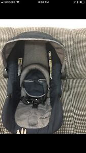 Baby car seat with base