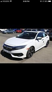 2018 Honda Civic Touring -$485 finance payments