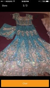 Looking for blue Lehenga/ Lengha with crystal work as depicted