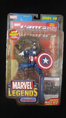 ULTIMATE Captain America MARVEL Legends MIP MOC Toy Biz AVENGERS Series 8 READ