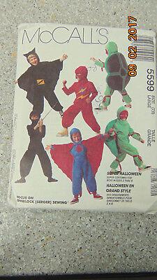 Spiderman Halloween Costume Pattern (McCalls Costume Pattern Childrens Spiderman Batman Ninja Halloween 5599 Large)