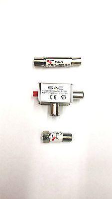 Abschwächer Iec oder F Typ in Linie Signal Reduzierer 3 6 9 12 15 20dB Variable