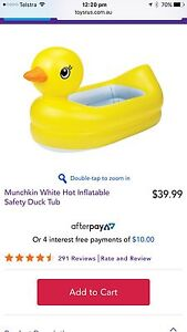 Inflatable duck baby bath. Sippy Downs Maroochydore Area Preview