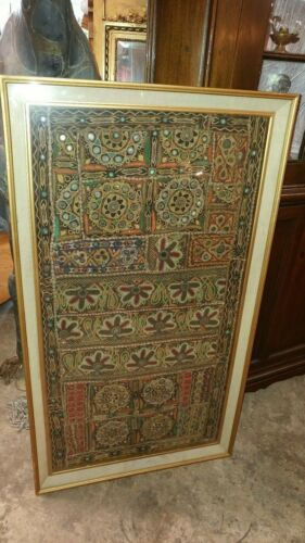 Framed Asian Embrordered Tapestry - Hand Made - SO BEAUTIFUL