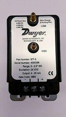 Dwyer Model 677-5 Differential Pressure Transmitter Sensor 4055368