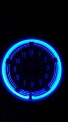 Neon Blue Light clock sterling & noble