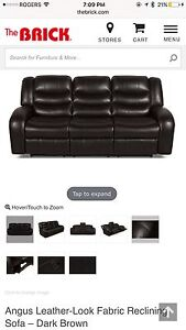 2 x Angus 3 seater couches - 2 months old - MINT