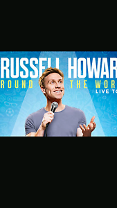 2 x Russell Howard tix - BEST seats in the house Sydney City Inner Sydney Preview