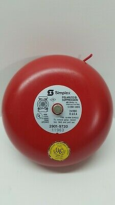 Simplex 24v Polarized And Suppression 2901-9720 Fire Alarm Bell