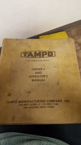 Tampo Owners & Operators Manual