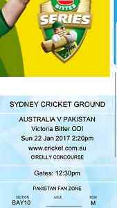 Australia vs Pakistan ODI Cricket Ticket - Sydney Hornsby Hornsby Area Preview