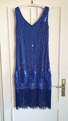 letten Swing Gatsby Kleid Charleston Fransen Flapper Kostüm (Gatsby Kleider Kostüme)