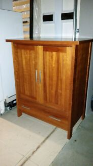 Wooden TV unit cabinet Frenchs Forest Warringah Area Preview