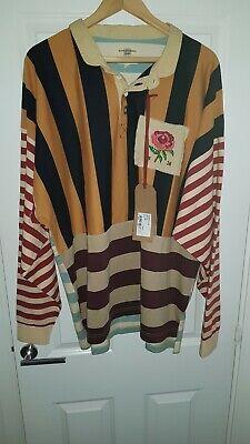 KENT & CURWEN Multi Stripe Carlston Rugby Shirt
