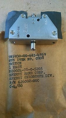 1 Ea Nos Honeywell Sensitive Switch Used On Various Aircraft Pn 4ac14
