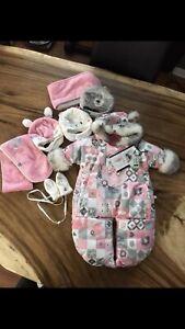 Habit de neige Souris Mini bébé fille 3 mois pochette