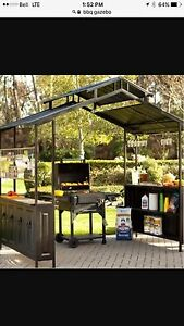 Steel hard top bbq gazebo for sale