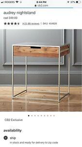 cb2 audrey nightstand