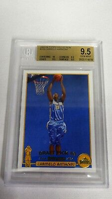 2003 03 04 Topps Collection Gold Carmelo Anthony Rookie Bgs 9 5 Gem Mint 10  223
