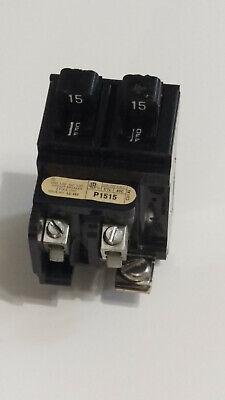 Pushmatic 1515 Amp Tandem Circuit Breakers P1515