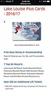 Ski lake louise plus card/ free skiing