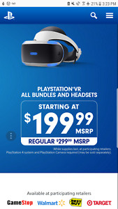 PS4 VR SALE 100$ OFF (OFFICIAL)