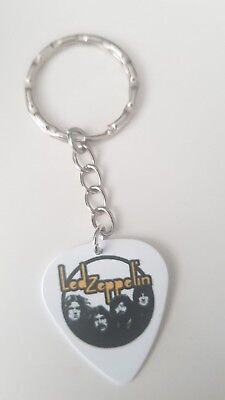 Led Zeppelin guitar pick keychain / keyring