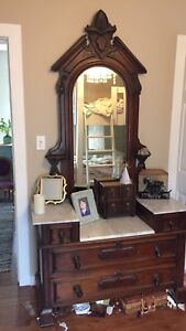 Antique Eastlake Vanity Dresser