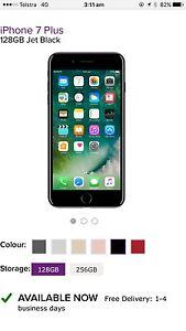 IPhone 7 Plus  128GB  Jet Black Canterbury Canterbury Area Preview