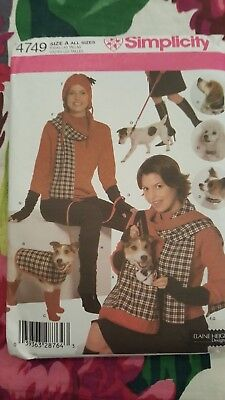 Simplicity 4749 Pattern Dog Accessories Bag Blanket Coat Collar Leash UNCUT