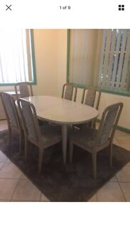 Dining Table With 6 Chairs And A Matching Buffet