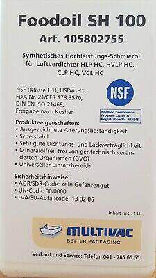 SH 100 Synthetischs Hochleistungs-Schmieröl Luftverdichter Kompressor Öl 3x1 L.