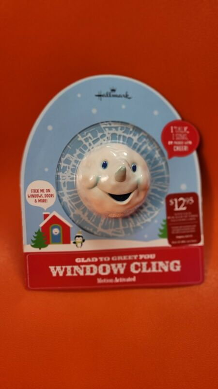 Hallmark Glad To Greet You Window Cling with Sound Motion Activated Christmas